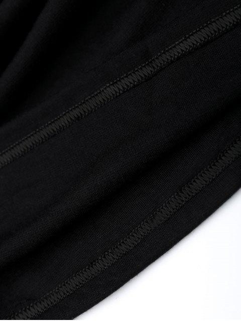 Spaghetti Straps Low Back Bodycon Dress - Noir M Mobile