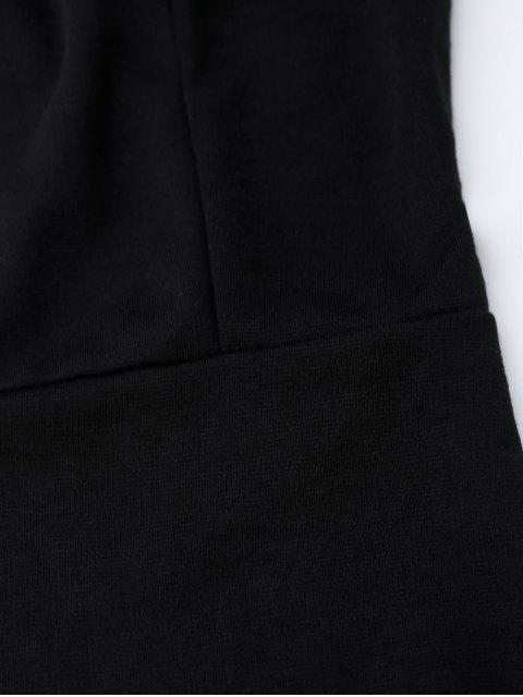 fancy Spaghetti Straps Low Back Bodycon Dress - BLACK XL Mobile