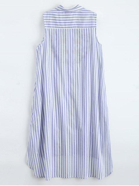 Robe à manches courtes à manches courtes sans manches - Bande Bleu L Mobile