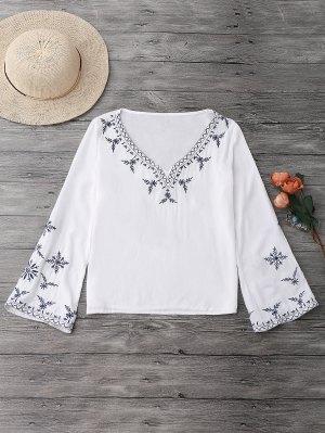 Blusa Bordada Linho - Branco