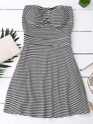 Striped Tube Dress - Black L