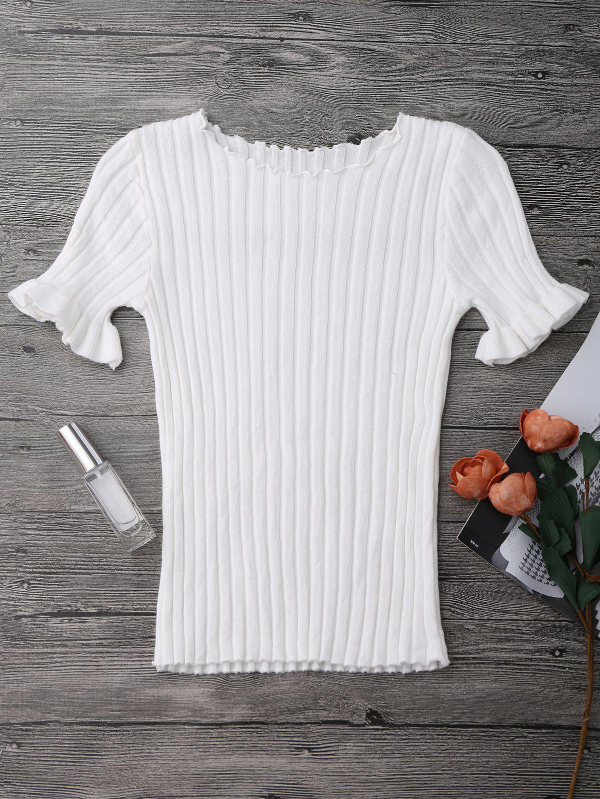 Knitted Ribbed Top 212142702