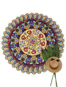 Sand Free Round Beach Throw - Multicolor