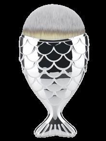 La Brosse à Maquillage à Fibres à La Forme Sirène - Argent