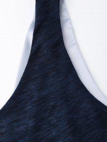 Sat Azul De Pearl Top Crossover Cinturones M Tank 233;n Indigo gSwFCq