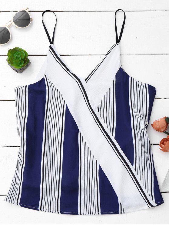 Camiseta sin mangas con rayas Spaghetti Strap - Colormix M