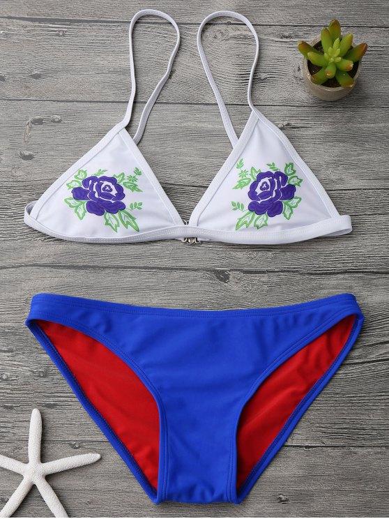 Juego de bikini con cintura baja Cami - Azul S