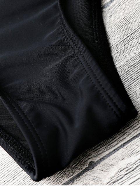Ensemble Bikini Brassière Avec Laçage - Noir S Mobile