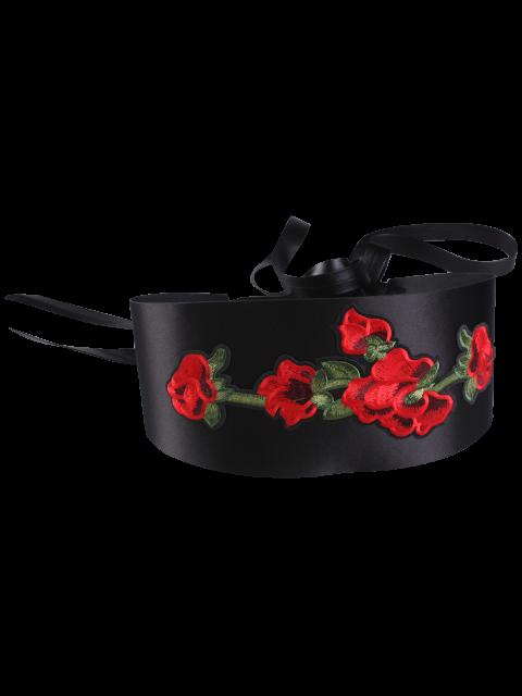 trendy Vintage Chinoiserie Flowers Embroidery Corset Belt -   Mobile