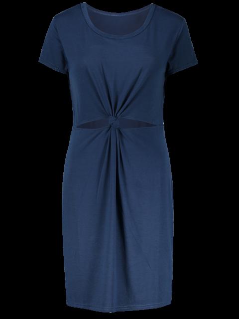 Découpez Out Front Twist Robe moulante - Bleu M Mobile