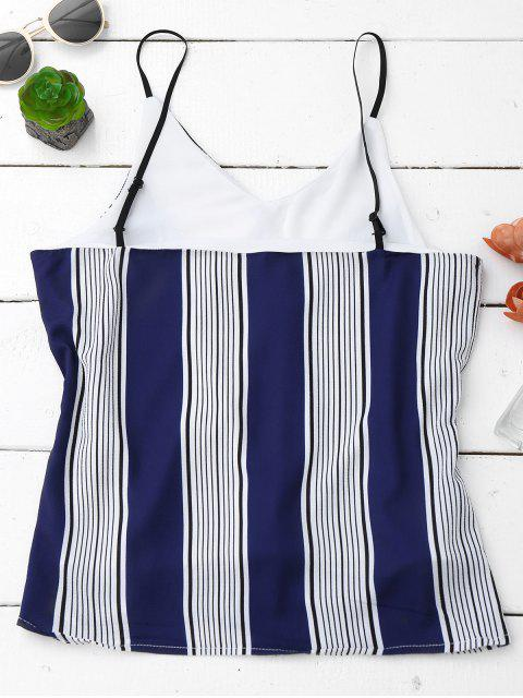 shop Spaghetti Strap Tank Top With Stripe - COLORMIX L Mobile