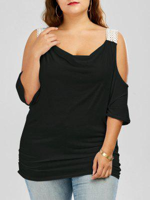 Batwing Sleeve Cold Shoulder Plus Size Top