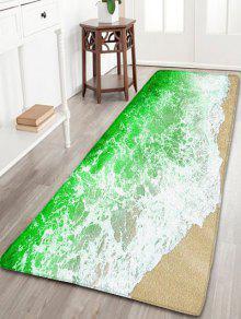 البحر المد والجزر الطباعة سكيدبروف الفانيلا حمام البساط - أخضر W31.5 بوصة * L47 بوصة
