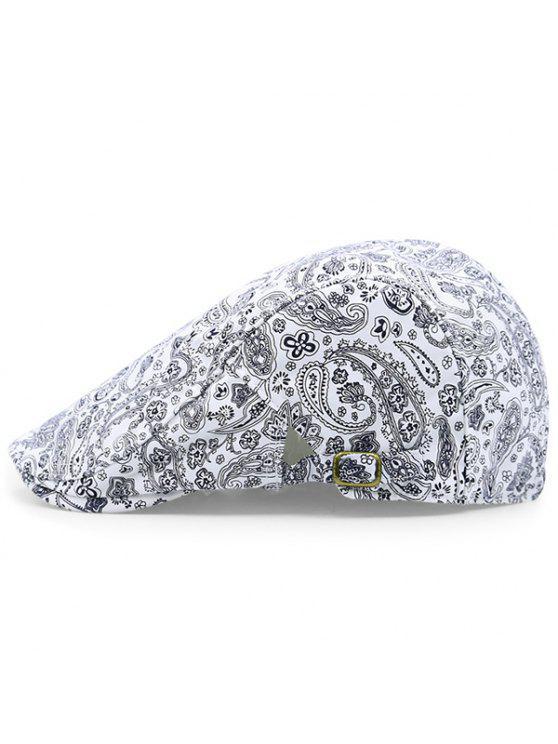 خمر بيزلي نمط قبعة نيوزبوي - أبيض