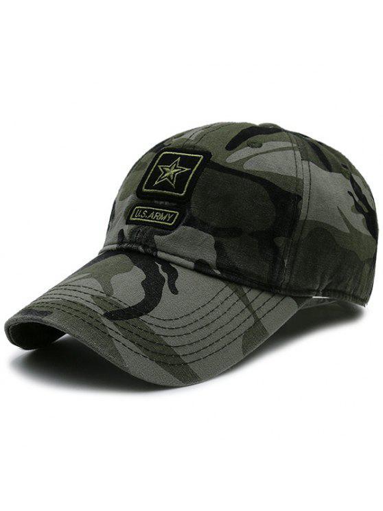الجيش، الخماسي، العنصر، مزخرف، قبعة البيسبول - تمويه