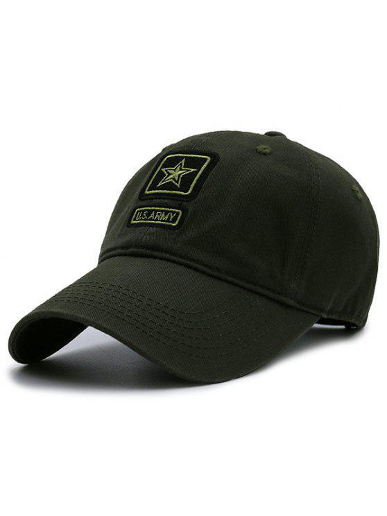 Armee Pentagram Element verschönert Baseball Mütze - Bundeswehrgrün