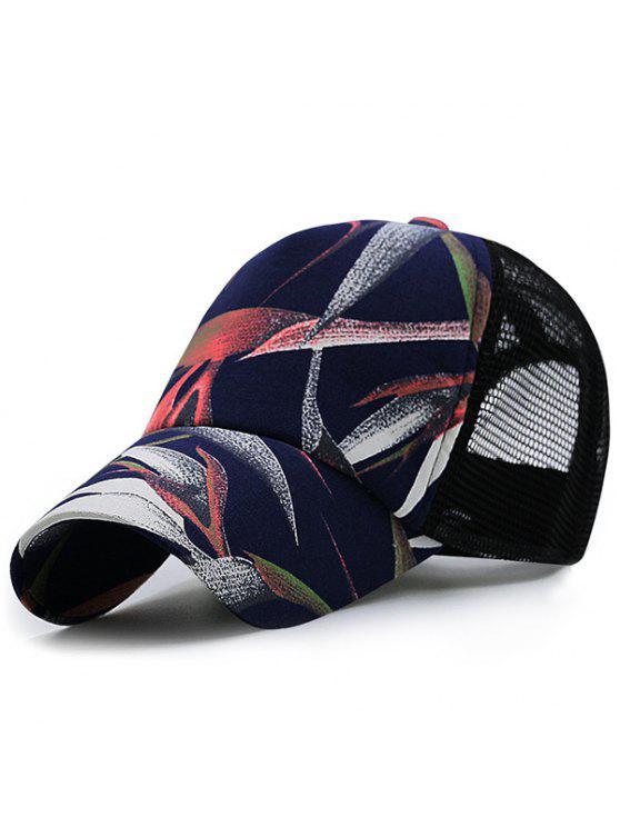 مصنع بايتينغ مطبوعة شبكة تقسم قبعة بيسبول - أسود