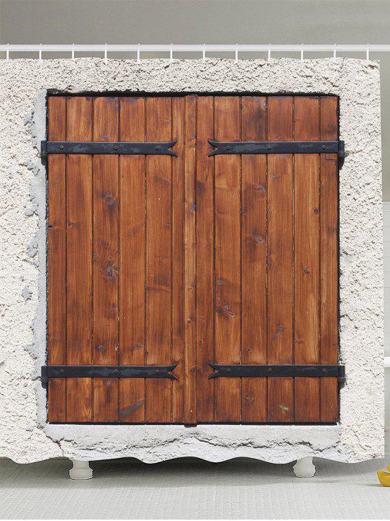 خمر ودي الباب للماء دش الستار - بنى W65inch*L71inch