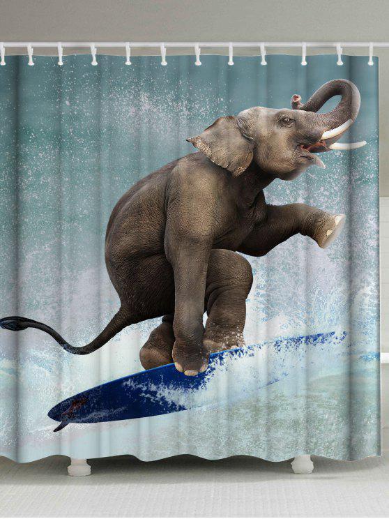 ستار الحمام طباعة الفيل ضمادة للماء - مزيج ملون W59 بوصة * L71 بوصة