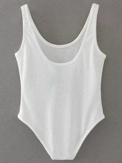 Skinny Ribbed Bodysuit - White