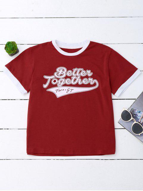 T-shirt graphique - Rouge L Mobile