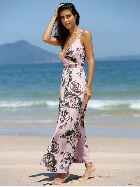 women's Floral Cross Back Cami Maxi Dress - COLORMIX M Mobile