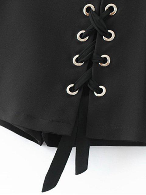 Culotte Lace Up Shorts - Noir M Mobile