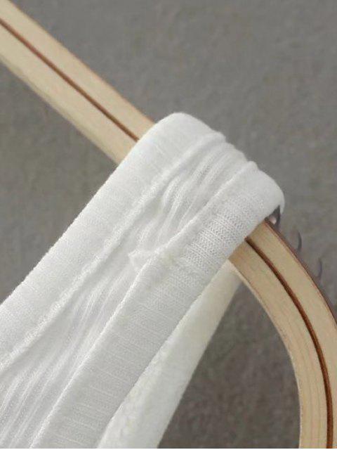 fancy Skinny Ribbed Bodysuit - WHITE ONE SIZE Mobile