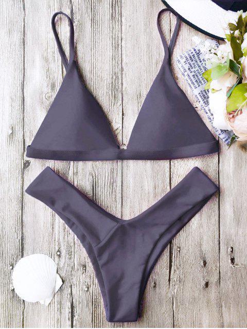 online Soft Pad Spaghetti Straps Thong Bikini Set - TARO L Mobile