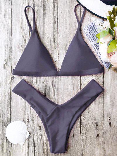 6b025e21def Soft Pad Spaghetti Straps Thong Bikini Set - Taro L ...