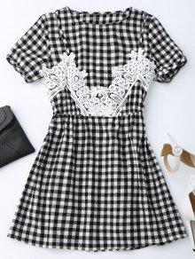 Vestido De Encaje Con Cuentas A-Line - Comprobado S