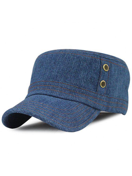 الدنيم في الهواء الطلق واقية من الشمس قبعة مسطحة - متوسطة الأزرق