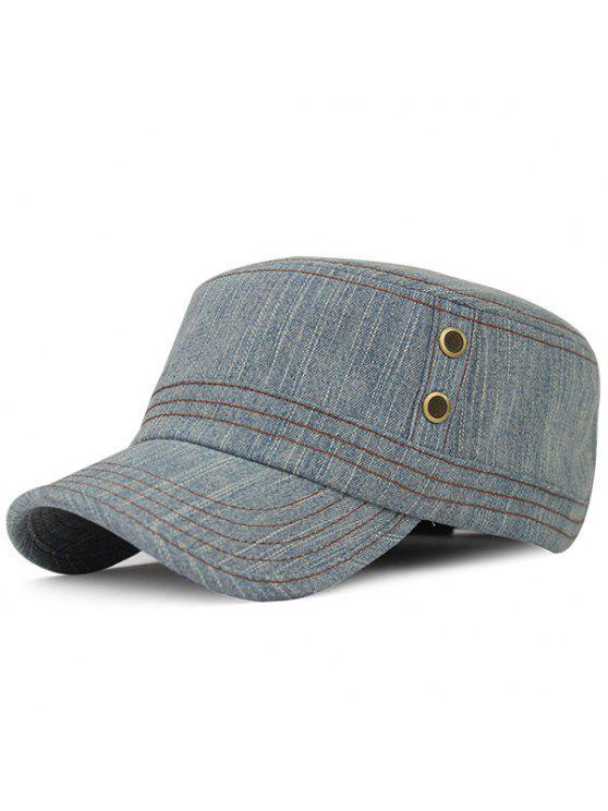 الدنيم في الهواء الطلق واقية من الشمس قبعة مسطحة - ازرق رمادي