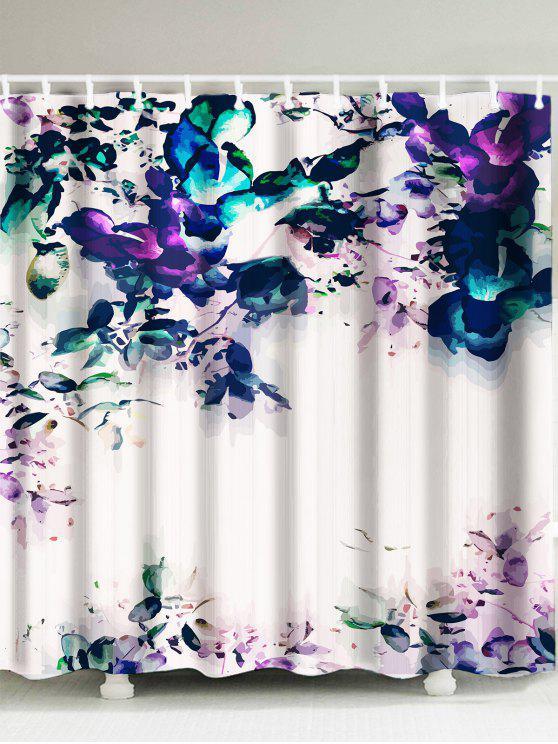 ماء اللوحة زهرة دش الستار - فسيفساء W71 بوصة * L79 بوصة