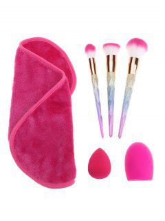 Brush Egg Towel Sponge Puff Makeup Brushes Set - Multicolor