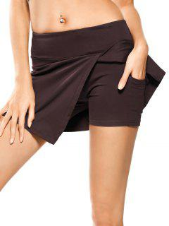 Skirted Sporty Shorts - Claret L