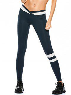 Activewear Two Tone Yoga Leggings - Cadetblue S