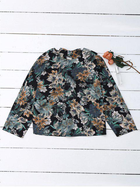 fancy Back Bow Tie Floral Top - FLORAL L Mobile