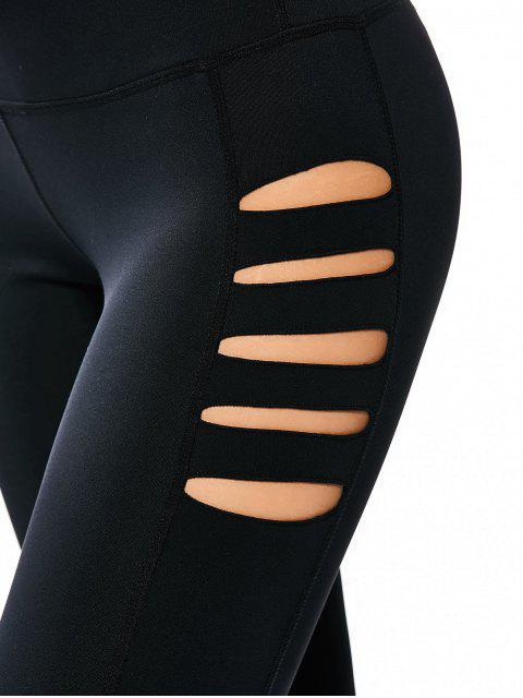 Leggings de yoga étirés - Noir S Mobile