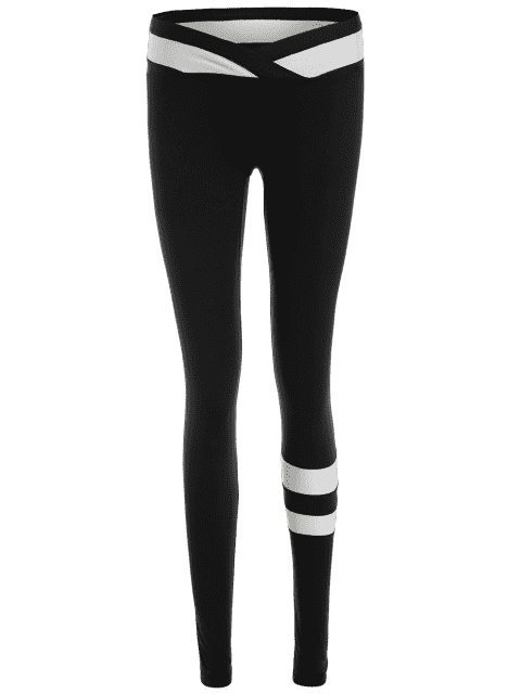 outfit Activewear Two Tone Yoga Leggings - BLACK XL Mobile