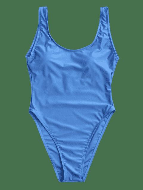 Maillot de bain dos nu avec découpe haute - Bleu M Mobile