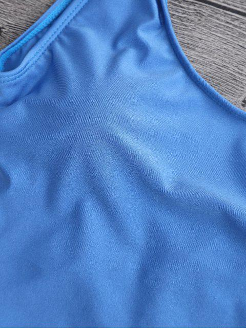 lady High Cut Backless Swimsuit - BLUE S Mobile