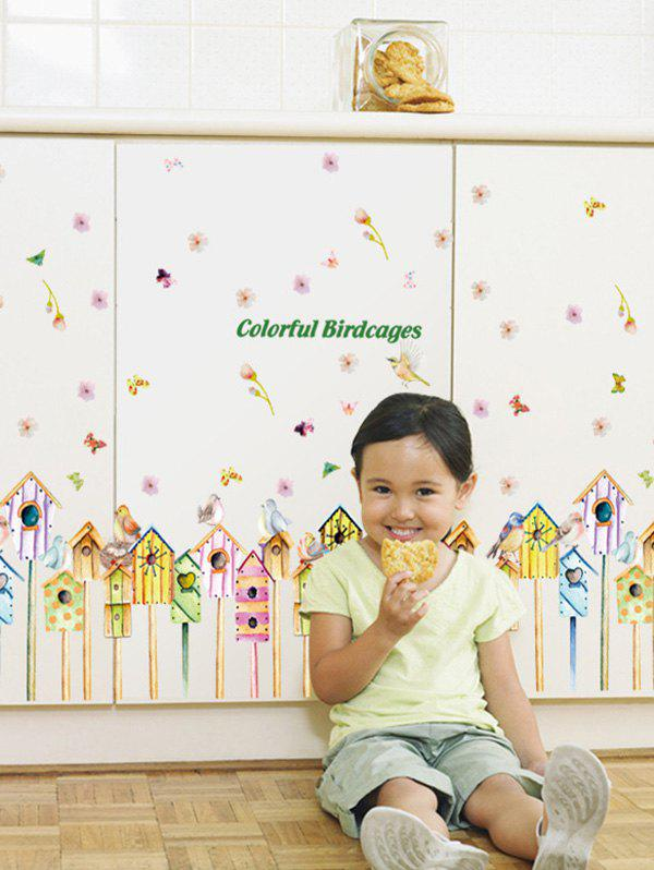 Colorful Birdcages Wall Art Stickers For Kids 212333701