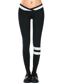 Activewear Two Tone Yoga Leggings - Black S
