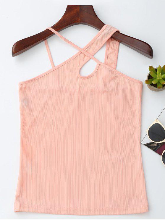 new Crossover Jacquard Tank Top - PINK M