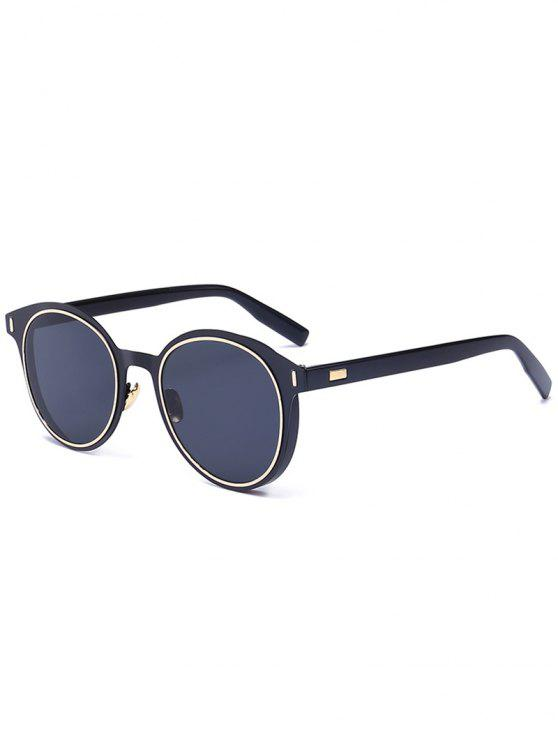 ccd4276e65 2018 Metal Frame UV Protection Round Sunglasses In DOUBLE BLACK