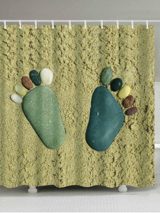 ستون أقدام للماء حمام دش الستار - مزيج ملون W59 بوصة * L71 بوصة