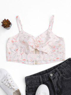 Cut Out Tiny Floral Cropped Top - Floral 2xl