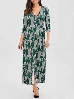 Leopard Wrap Maxi Dress - Leopardo S