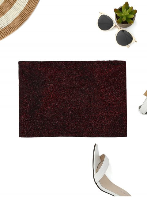 shops Glittered Tube Top - WINE RED S Mobile